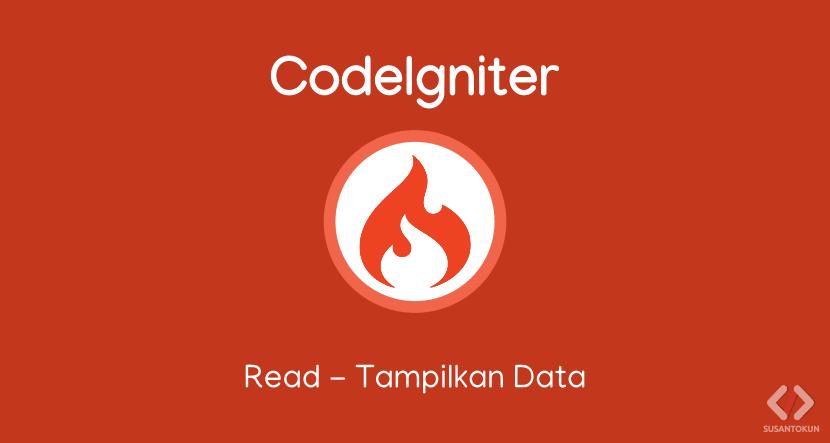 Tutorial CRUD CodeIgniter Read