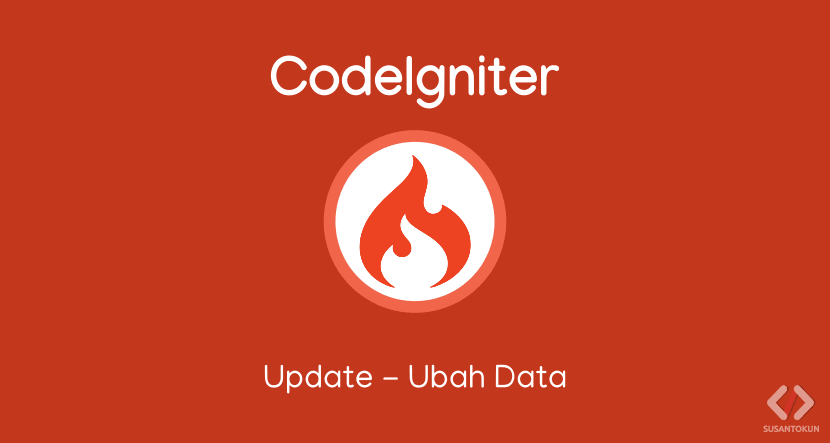 Tutorial CRUD CodeIgniter Update