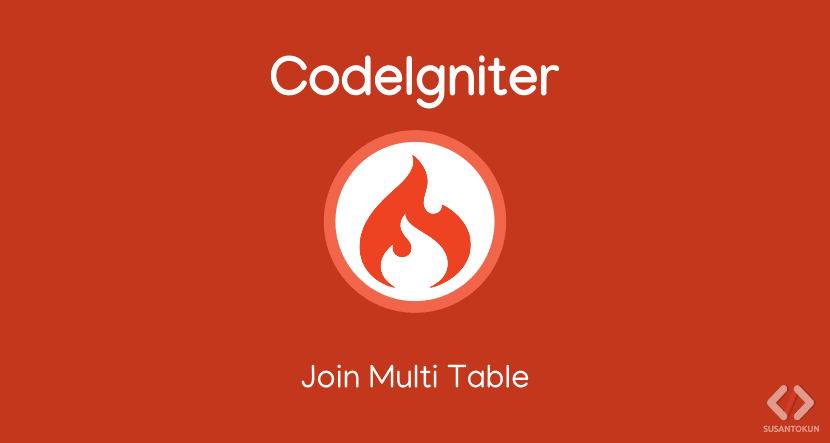 Cara join table di CodeIgniter