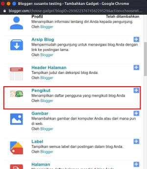 Cara Memasang Widget Pengikut/Followers Blog dengan HTML
