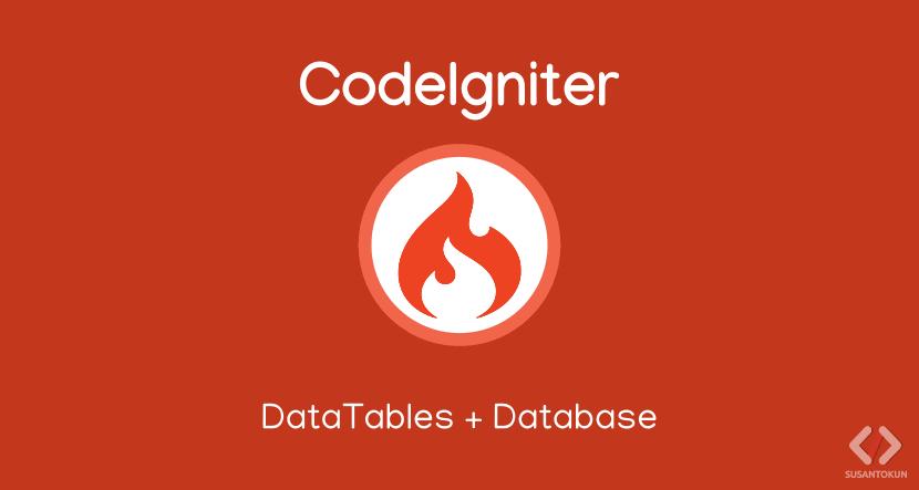 Tutorial DataTables Database CodeIgniter