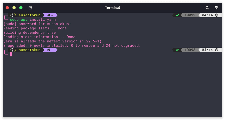 Cara Install Yarn di Linux Ubuntu