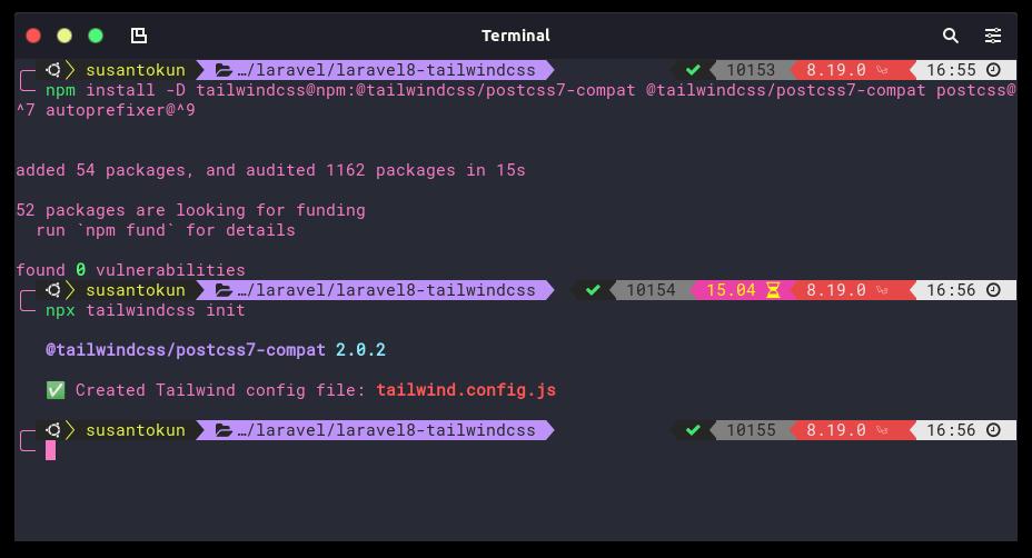 Install TailwindCSS di Laravel 8