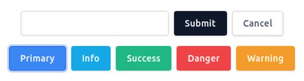 TailwindCSS Button Form Input