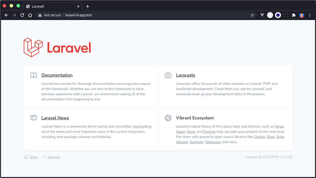 Tutorial Laravel Valet Domain Test
